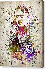 Adolf Hitler In Color Acrylic Print
