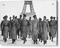 Adolf Hitler Touring Conquered Paris Acrylic Print by Everett