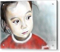 Adora 14th Portrait Acrylic Print by Yoshiyuki Uchida