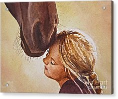 Adoration Acrylic Print by Andrea Timm