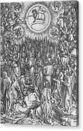 Adoration Of The Lamb Acrylic Print by Albrecht Durer or Duerer