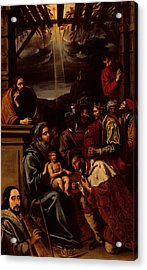 Adoration Of The Magi Acrylic Print by Unknown