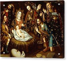 Adoration Of The Sheperds Acrylic Print by Gaspar Miguel de Berrio