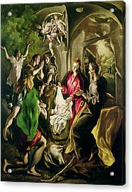 Adoration Of The Shepherds Acrylic Print by El Greco
