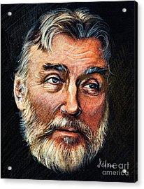 Adrian Paunescu -portrait Acrylic Print by Daliana Pacuraru
