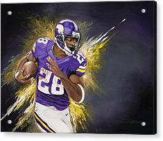 Adrian Peterson Acrylic Print by Don Medina