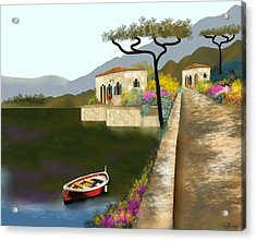 Adriatic Splendor Acrylic Print by Larry Cirigliano
