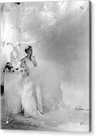 Adrienne Ames Wearing A Grecian Gown Acrylic Print