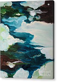 Acrylic Print featuring the painting aDrift IV by Elis Cooke