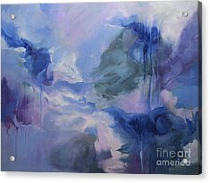 Acrylic Print featuring the painting aDrift IX by Elis Cooke