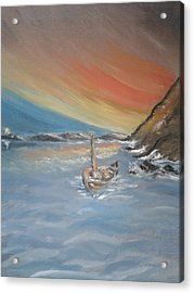 Acrylic Print featuring the painting Adrift by Teresa White