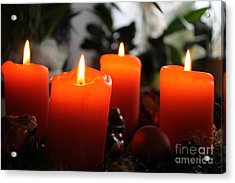 Acrylic Print featuring the photograph Advent Candles Christmas Candle Light by Paul Fearn