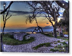Adventures At Sunset Beach Acrylic Print