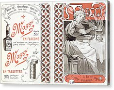 Advertisement For Maggi, Late 19th Century Colour Litho Acrylic Print by Alphonse Marie Mucha