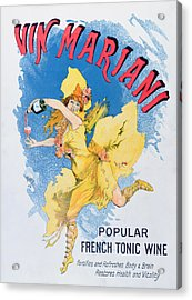 Advertisement For Vin Mariani From Theatre Magazine Acrylic Print by English School