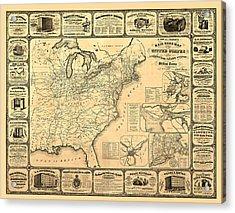 Advertising Map Acrylic Print by Gary Grayson