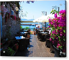 Aegean Cafe Acrylic Print by Andreas Thust