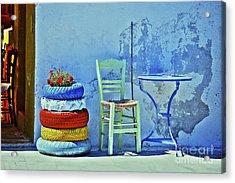 Aegean Colours Acrylic Print