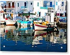 Aegean Harbor  Acrylic Print