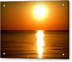Acrylic Print featuring the photograph Aegean Sunset by Micki Findlay