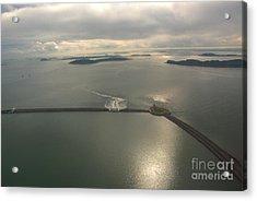 Aerial Causeway Acrylic Print by Deborah Smolinske