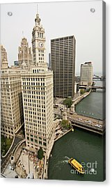 Aerial Downtown Chicago Skyscrapers Acrylic Print