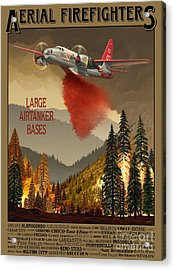 Aerial Firefighters Large Airtanker Bases Acrylic Print