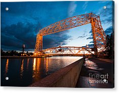 Aerial Lift Bridge Acrylic Print by Adahm Faehn