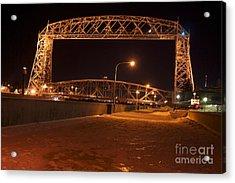 Aerial Lift Bridge Acrylic Print by Kevin Jack