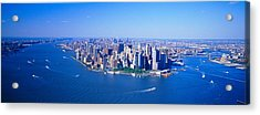 Aerial Lower Manhattan New York City Ny Acrylic Print