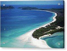 Aerial Of Whitehaven Beach Acrylic Print