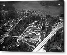 Acrylic Print featuring the photograph Aerial Old Tumwater 1947 by Vibert Jeffers