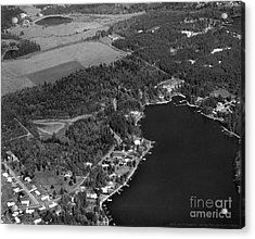Acrylic Print featuring the photograph Aerial Over Hicks Lake by Merle Junk