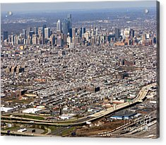 Aerial Philadelphia Acrylic Print by Olivier Le Queinec