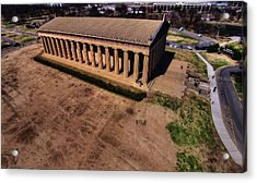 Aerial Photography Of The Parthenon Acrylic Print