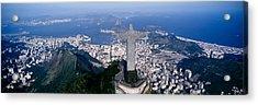 Aerial, Rio De Janeiro, Brazil Acrylic Print by Panoramic Images