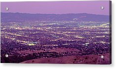 Aerial Silicon Valley San Jose Acrylic Print by Panoramic Images