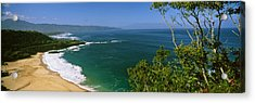 Aerial View Of A Beach, North Shore Acrylic Print by Panoramic Images