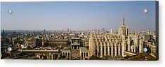 Aerial View Of A Cathedral In A City Acrylic Print by Panoramic Images