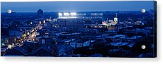 Aerial View Of A City, Wrigley Field Acrylic Print by Panoramic Images