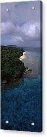 Aerial View Of A Coastline, Vavau Acrylic Print by Panoramic Images