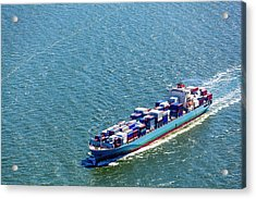 Aerial View Of A Container Ship Acrylic Print