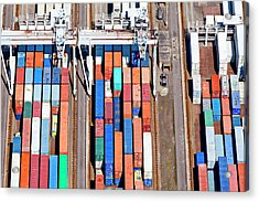 Aerial View Of A Large Container Acrylic Print