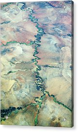 Aerial View Of A River Acrylic Print