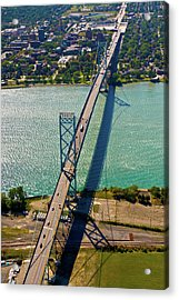Aerial View Of Ambassador Bridge Acrylic Print