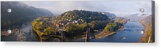 Aerial View Of An Island, Harpers Acrylic Print by Panoramic Images