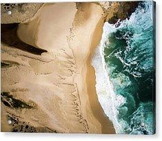 Aerial View Of Beach And Sea Acrylic Print by Aolin Li / Eyeem