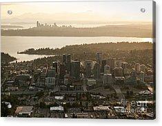 Aerial View Of Bellevue Skyline Acrylic Print
