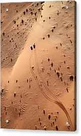 Aerial View Of Cars Driving Through Acrylic Print by Claudia Fernandes / Eyeem