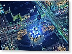 Aerial View Of Chicago Water Tower Acrylic Print